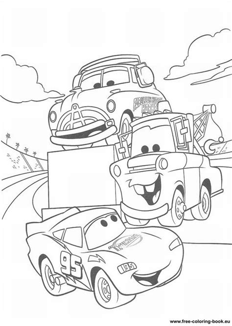 Printable Disney Pixar Cars Coloring Pages | coloring pages cars disney pixar page 1 printable