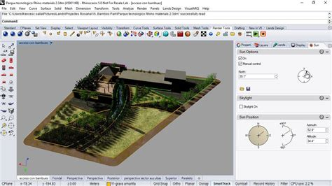 tutorial lands design shadow simulation study in rhino and lands design youtube