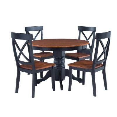 cottage 5 dining set home styles black and cottage oak dining set 5