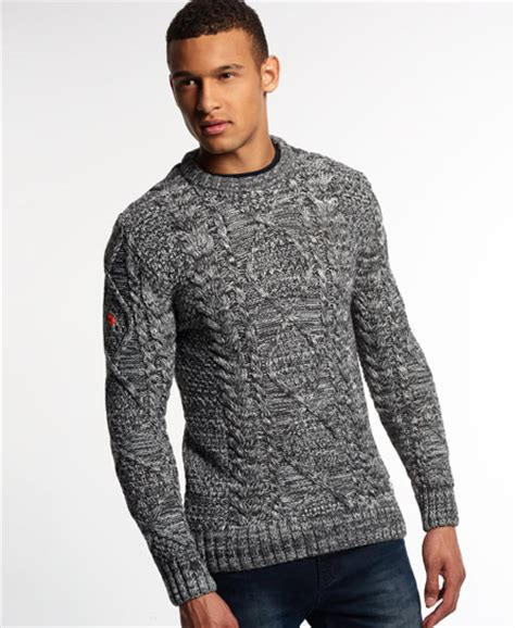 Superdry Black Leather List Grey superdry black blizzard crew sweater s sweaters