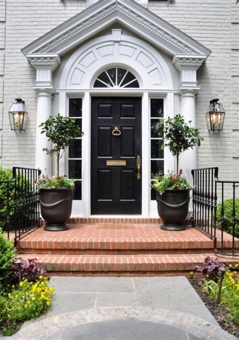Front Door Curb Appeal Stylish Black Front Doors Change Your House S Curb Appeal