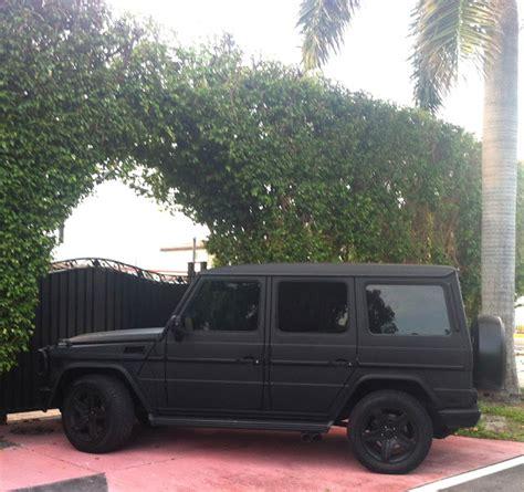 Mercedes Jeep Matte Black Matte Black Mercedes G55 Cars On The Streets Of Miami