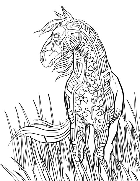Printable Coloring Pages For Adults Horses | free horse coloring pages selah works adult coloring books