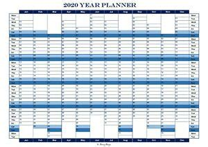 year planner calendar office    darary designs aa laminated ebay