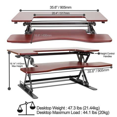 adjustable height desk amazon amazon com halter ed 258 preassembled height adjustable