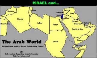 Map Of The Arab World by Arabian World Map Israel Vs The Arab World