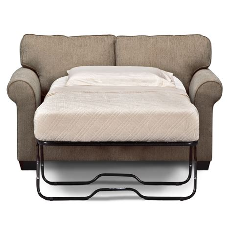 Superb Sleeper Sofa Chicago #1: Grey-Upholstered-Fabric-Twin-Size-Sleeper-Sofa.jpg