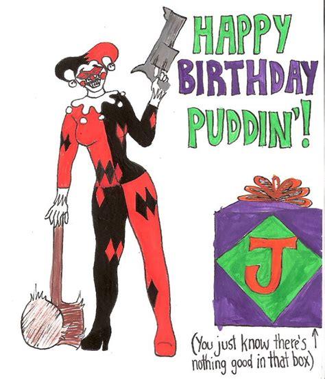 Harley Quinn Birthday Card Harley Quinn Grins By Midnightmadwoman On Deviantart
