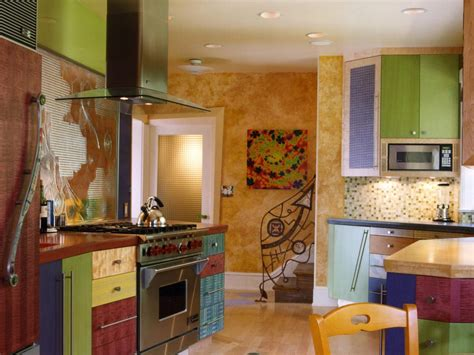 colorful kitchen cabinets colorful kitchens hgtv