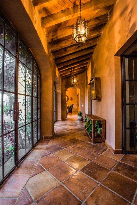 good hallway mexican wood ceiling pisos rusticos de