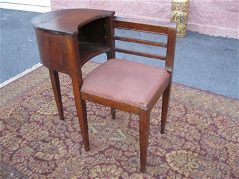 antique gossip bench phone table antique 1940 s mahogany gossip bench phone table