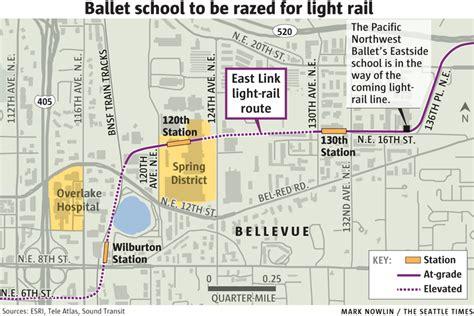 seattle eastside map bellevue ballet school in way of light rail fight
