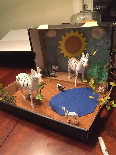 printable giraffe diorama shoebox zebra diorama zebra diorama pinterest