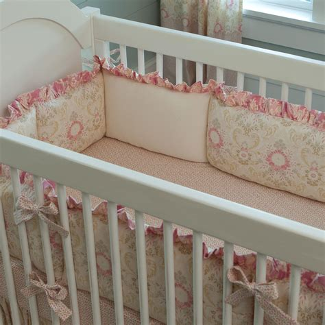 Baby Bumping On Crib by Juliet Crib Bumper Carousel Designs