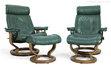 ekornes stressless recliner sale antiques atlas pair of ekornes stressless chairs and stools
