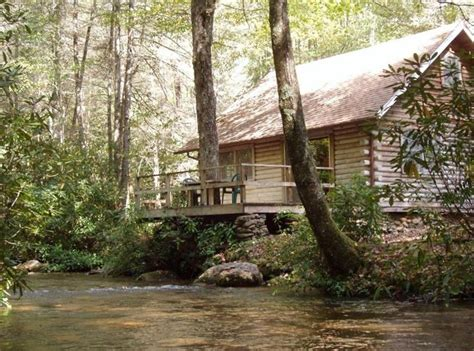 Creek Log Cabin by Nantahala Cabin Rentals Chalets Vacation Homes Lodging