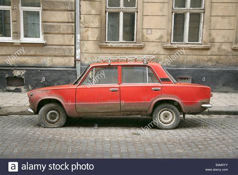Lada Ukraine Abandoned Lada Saloon Car In Lviv Or Lvov