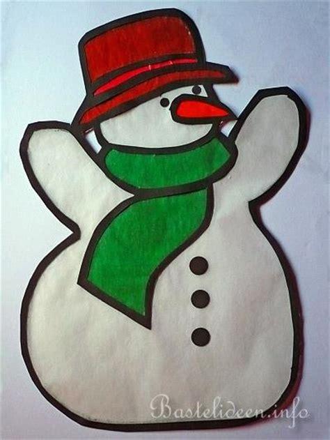 Fensterdeko Weihnachten Seidenpapier by Basteln Mit Papier Schneemann Fensterbild Basteln