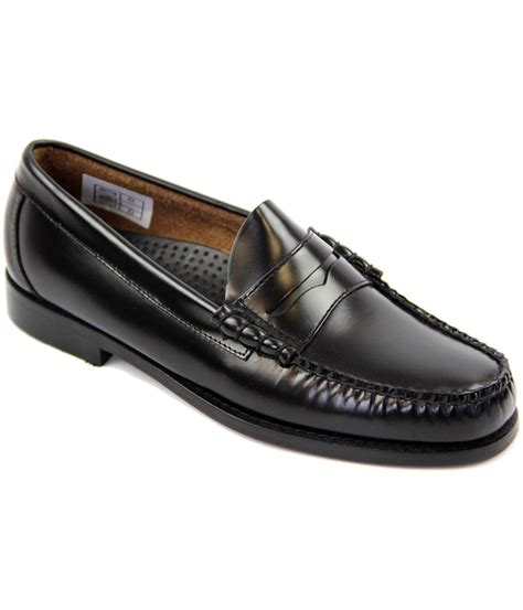bass weejuns loafers bass weejuns larson retro mod loafer shoes in black