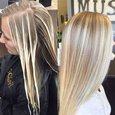 before and after cool blonde chic cut neil george 25 best ideas about light blonde balayage on pinterest