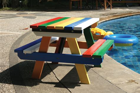 cool painted picnic tables hardwood painted junior picnic table