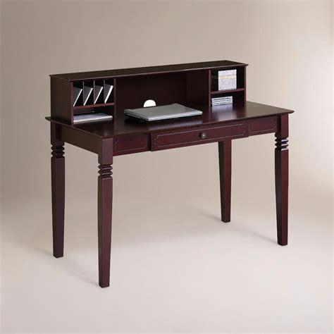 world market desks walnut brown douglas desk with hutch world market