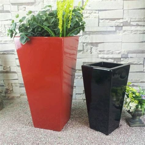 Modern Outdoor Planters Wholesale by Fiberglass Modern Outdoor Wholesale White Planters
