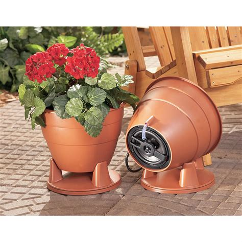 Outdoor Planter Speakers by 2 Hi Fi Stereo Indoor Outdoor Planter Speakers