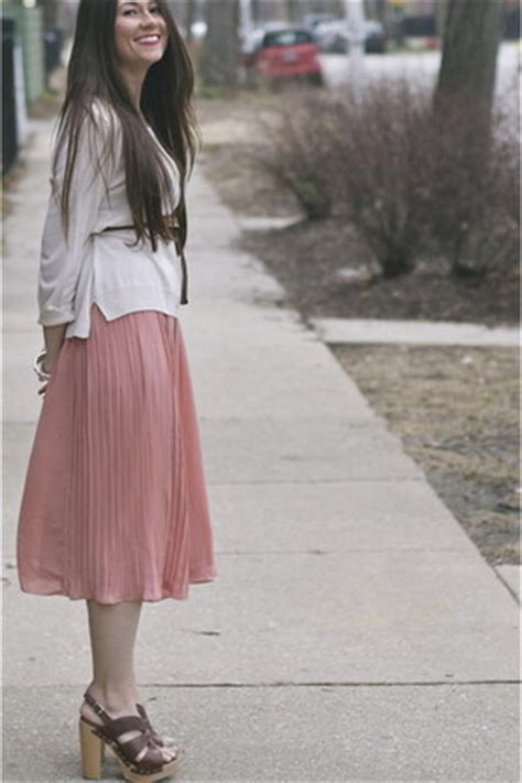 h m pink pleated midi skirt skirt chictopia