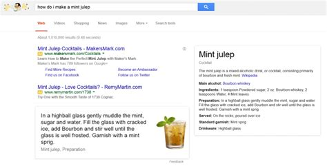When Do Search For Recipes Search Now Serving Up Cocktail Recipes With Drink Ingredients Directions