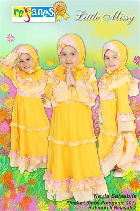 Baju Muslim Anak Refanes Setelan Baju Muslim Anak Refanes Kuning