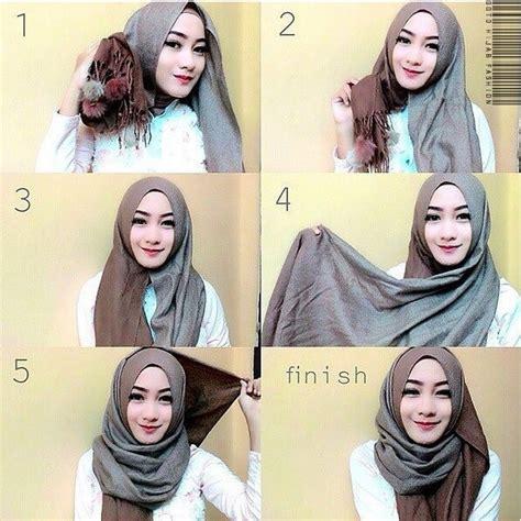 tutorial hijab pashmina katun tutorial hijab katun rawis segi empat kumpulan contoh