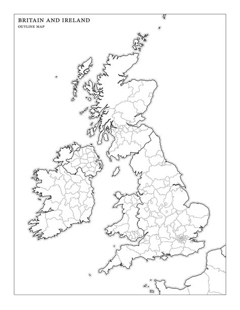 Britain Counties Outline Map by Blank Map Of Ireland And