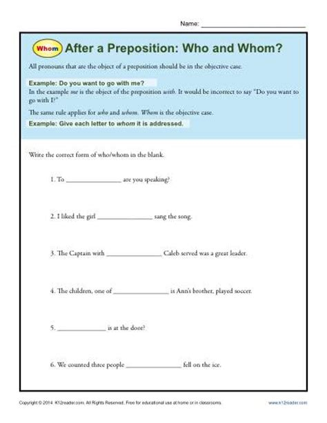 3rd grade grammar worksheets prepositions prepositions