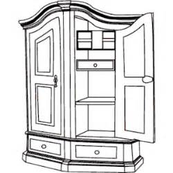 Armoire Bookcase Cabinet Clipart Cliparts Of Cabinet Free Download Wmf