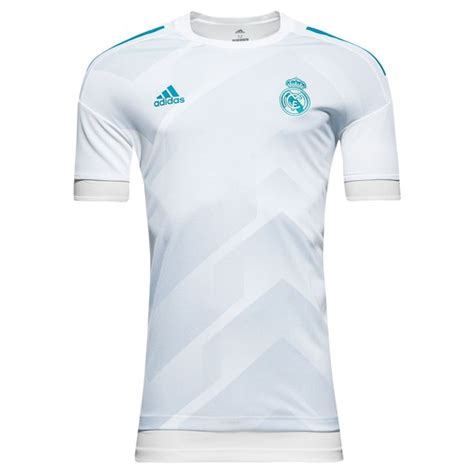 real madrid t shirt pre match white blue
