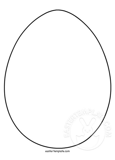 easter egg shape coloring page easter template