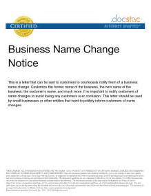 Best photos of name change letter template company name change