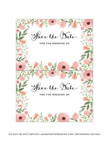 Save This Date Template by Diy Save The Date Postcard Free Printable Mountain