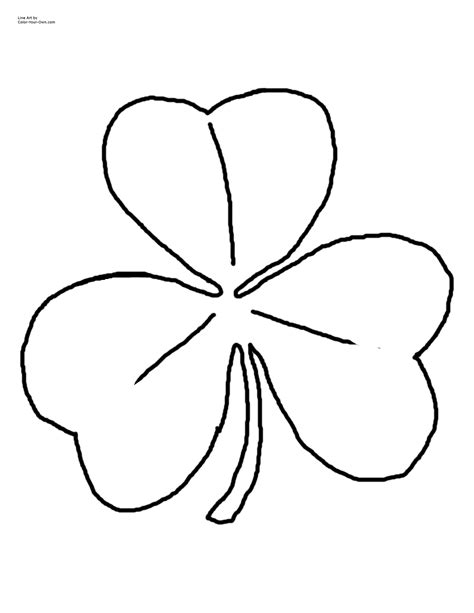 shamrock coloring sheets coloring pages