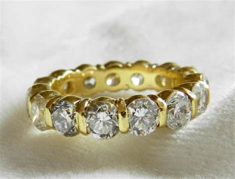 7 Beautiful Eternity Rings by Eternity Ring 7 Ct Wedding Band 14k Gold Ring