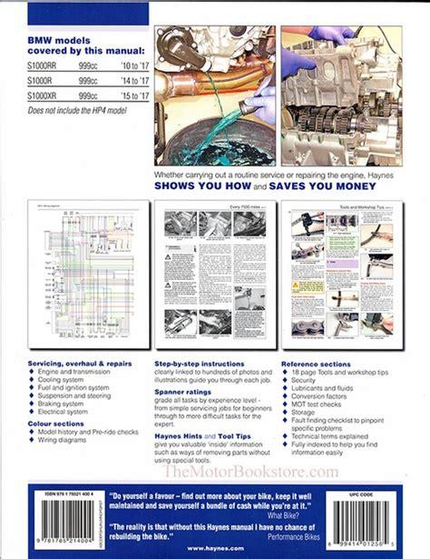 Bmw S1000rr R Amp Xr Repair Manual 2010 2017 Haynes M6400