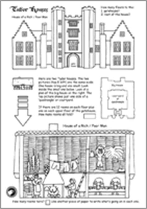 printable tudor house template tudor activity sheets for kids