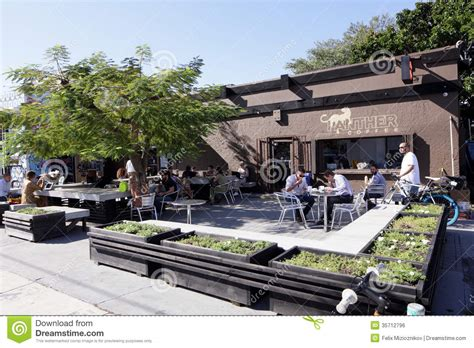 coffee shop design district miami panther coffee wynwood editorial photo image of cafe
