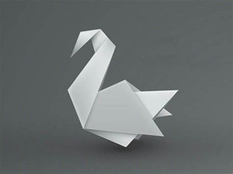 Easy Origami Swan - best 25 origami swan ideas on simple origami