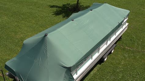 homemade pontoon boat covers how to make a pontoon boat cover youtube