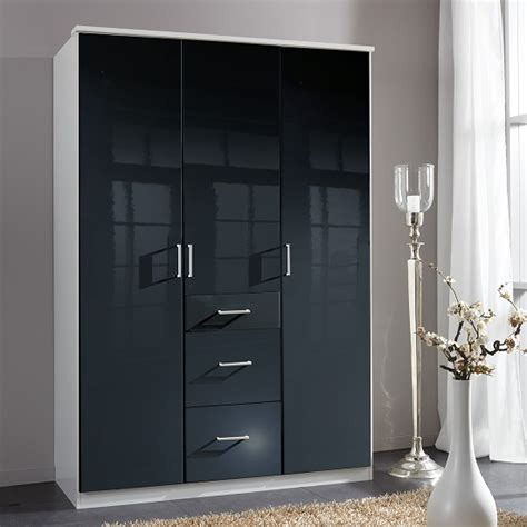 buy cheap black gloss wardrobe compare beds prices for
