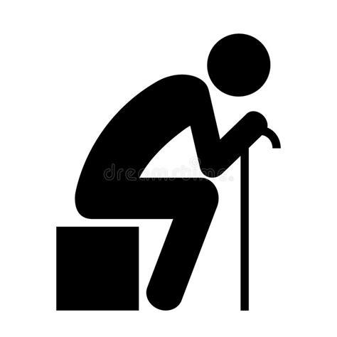 persona seduta persona di seduta anziana illustrazione vettoriale