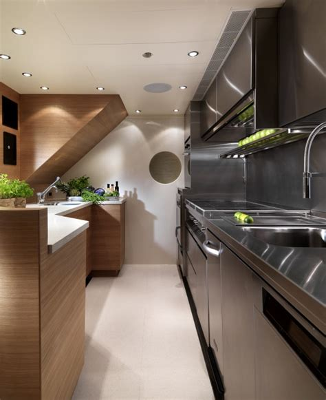 yacht galley layout motor yacht sofia galley yacht charter superyacht news