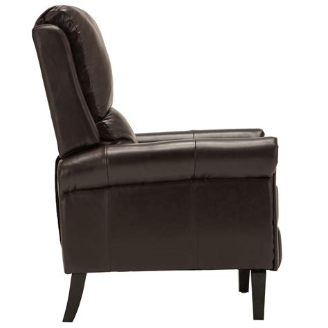 Armchair With Leg Rest by Brown Leather Recliner Armchair Accent Chair W Leg Rest
